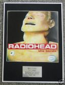 RADIOHEAD  - Framed LP Cover - THE BENDS